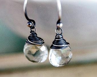 Green Amethyst, Drop Earrings, Amethyst Earrings, February Birthstone, Dangle Earrings, Gemstone Earrings Mint Green, Sage Green