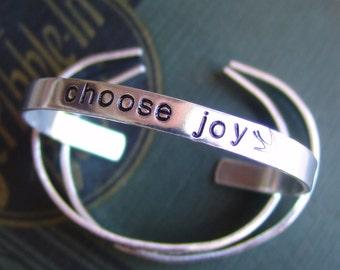 Personalized Skinny Aluminum Cuff Bracelet