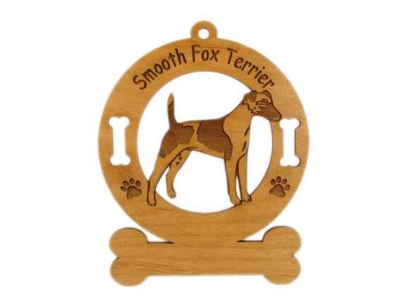 3198 Smooth Fox Terrier Standing Personalized  Ornament