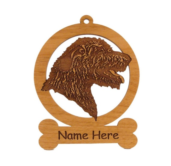 Irish Wolfhound (Head) Dog Ornament 083391 Personalized With Your Dog's Name