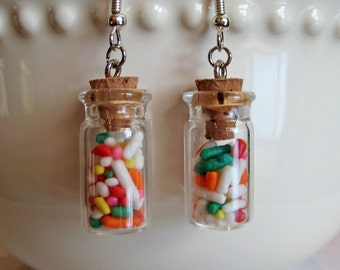 Candy Jar Earrings - Food Jewelry