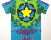 Tie Dye Yellow Star Shirt, Everybody is a Star, Size Small