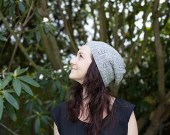 PDF Geraldine Slouch Beanie knitting pattern