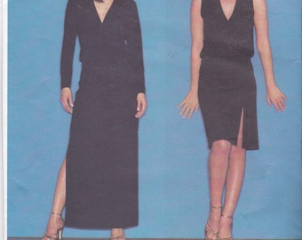 OOP New 2001 Vogue pattern 2555 Donna Karen DKNY Misses Top and Skirt Sizes 18, 20, 22
