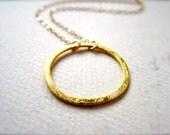 Eternity Petite Necklace - gold circle necklace, eternity circle necklace, everyday circle necklace, bridesmaid git, handmade jewelry