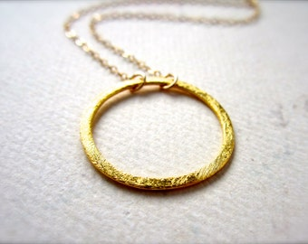 Eternity Petite Necklace - gold circle necklace, eternity circle necklace, everyday circle necklace, bridesmaid gift