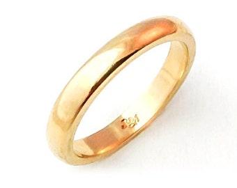 Round Ring Gold 18K (yellow, rose or white)