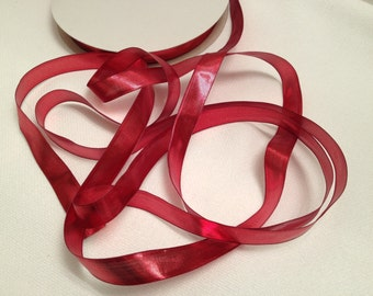Red Ribbon, Bows, Costumes, Barrettes, Headbands, Decoration, Christmas, Gift Wrap, Scrapbook, Tags, Cards, Crafts, Sewing, Dolls, Ornaments