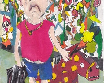 Homage to Jean-Gabriel Hubert SAuzeau Portrait of the artist son