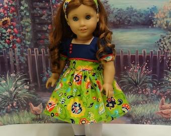 Garden Whimsy - vintage style dress for American Girl