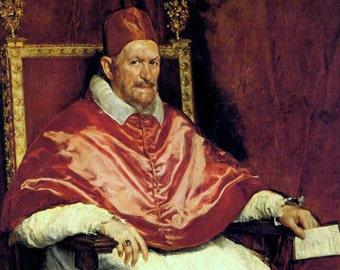 Pope Innocent X by Velazquez - a Frameable Vintage 1954 Art Print