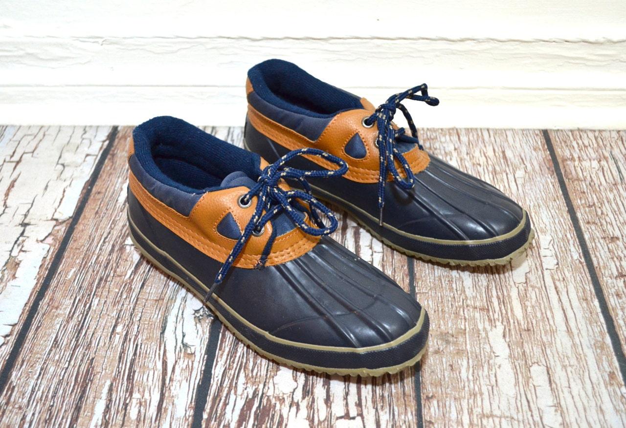 Women Duck Boots 8 Navy Blue Boots Women Winter Boots