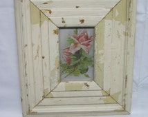 Extra Wide 4x6 Fluted Salvaged Recycled Wood Moulding Photo Picture Frame S1867-14