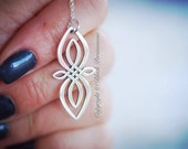 Celtic Knot Infinity Necklace - Solid 925 Sterling Silver Charm Pendant  - Free Domestic Shipping