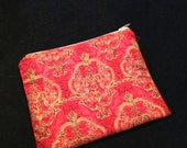 Pouch, zippered 6.5 x 5.25 inches