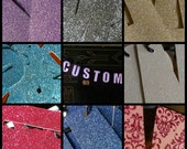 "Custom Sparkle Banner- Personalized Phrase and Choice of Color- 4"" Lettering"