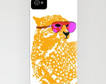 Cool Cheetah with sun glasses on Phone Case -  samsung galaxy, Leopard , safari animal, iPhone 6S, iPhone 6 Plus