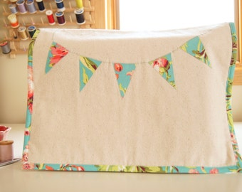 Sewing Machine Cover - Linen with Bliss Bouquet Banner