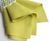 Yellow Green, Wool Felt Sheet, Choose Size, Large Felt Square, Pure Merino Wool, DIY Craft Supply, 100% Wool, Felt Fabric, Wool Applique