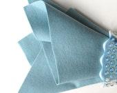 Rain Drop Blue Felt, 100% Wool, Three Sizes, Large Felt Square, Wool Felt Sheet, 1 mm Thick Felt, Pale Blue, Dusty Blue, European Wool Felt