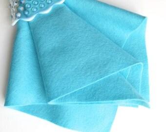 Caribbean Blue, Wool Felt Fabric, 100% Merino, Sewing Supply, Wool Applique, Light Blue, Celeste, Pastel Blue, Aqua, DIY Supply, Scuba Blue