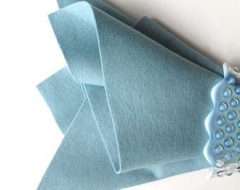 Rain Drop Blue, Wool Felt, 100% Merino, Large Felt Sheet, Wool Felt Square, 1mm Thick Felt, Pale Blue, Dusty Blue, Doll Making, Applique