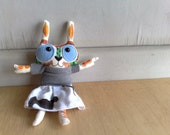 Handmade plush - Rose Merry the forest bunny