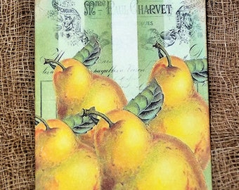 French Yellow Pear Tags #326