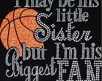Rhinestone Basketball Sister T-Shirt - Bling Shirt