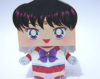 Sailor Mars Printable Paper Craft PDF