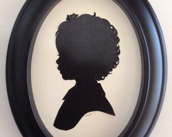 Custom Black Oval Silhouette Frame
