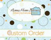 "CUSTOM ORDER for Lois Bullwinkel - One Set Lined Rod Pocket Curtain Panels 75""W x 96""L"