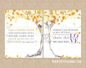 """Lyrics / Kenny Chesney """"Me and You"""" Personalized Keepsake // wedding / anniversary // Canvas or Art Print Set // W-L15-2PS HH4"""