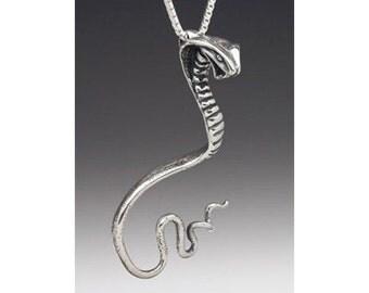 Snake Necklace Cobra Necklace Snake Jewelry Cobra Jewelry Cobra Pendant Silver Snake  Serpent Jewelry Serpent Necklace Spitting Cobra