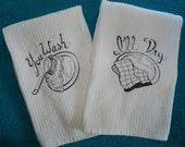 You Wash I'll Dry Fun Embroidered Tea Towels Kitchen Towels Handmade Housewares