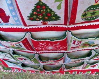 Advent Calendar Christmas Cheer Holiday Wall Hanging