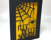 Itsy Bitsy Spider Paper-cut Card