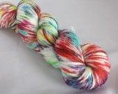 Hand Dyed Wool Silk Charlemont Sock Yarn