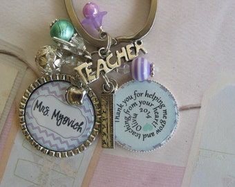 Personalized Teachers key  chain, end of year gift
