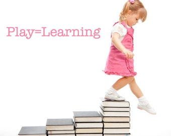 Playroom Wall Decal Play=Learning 059