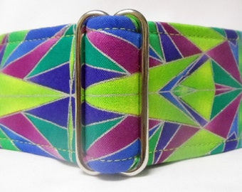 "2.0"" Geometrics Greyhound Martingale Dog Collar"