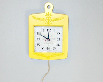 Upcycled Vintage Wall Clock | Sunny Yellow General Electric Clock
