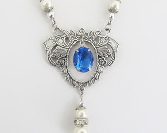 Silver Necklaces Pearl Rhinestone Women's Jewelry Special Occasion Formal Prom Necklace