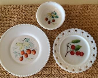 Westmoreland Milk Glass Dish Set