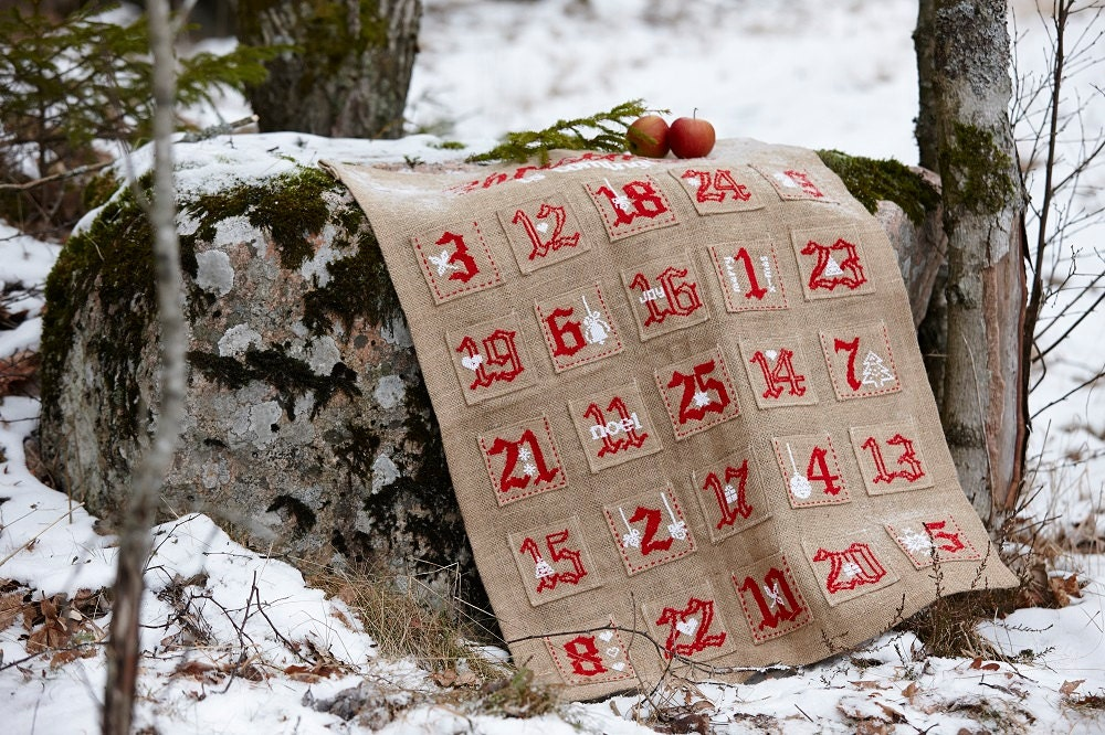 Unique burlap calendar related items Etsy