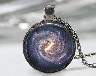 Galaxy Glass Pendant, Galaxy Charm, Solar System Pendant,Galaxy  Necklace,Galaxy Jewelry