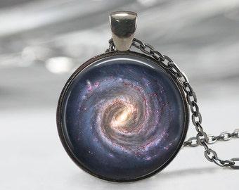 Galaxy Glass Pendant, Galaxy Charm, Solar System Pendant,Galaxy  Necklace,Galaxy Jewelry