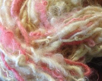 Queen of Sheba fluffed n spun  locks - handspun - Art yarn