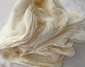 Silk hankies, mawata, natural, undyed, 1.5 oz.