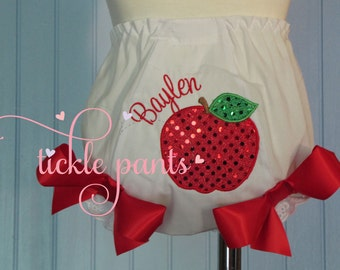 Apple Bloomers,- Diaper cover- Matches Snow White Birthday Outfits